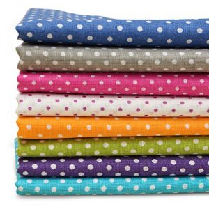 KINGSO 7PCS Cotton Fabric Bundles Quilting Sewing DIY Craft 19.7×19.7inch Polka Dot